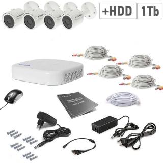 Tecsar 4OUT + HDD 1TB